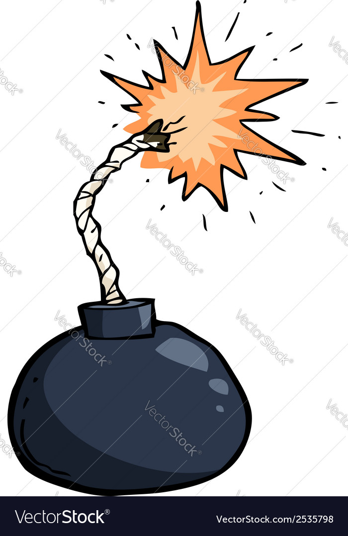 Broken winded bomb vector | Price: 1 Credit (USD $1)