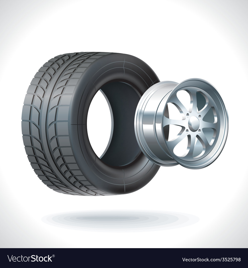 Car tire vector | Price: 3 Credit (USD $3)