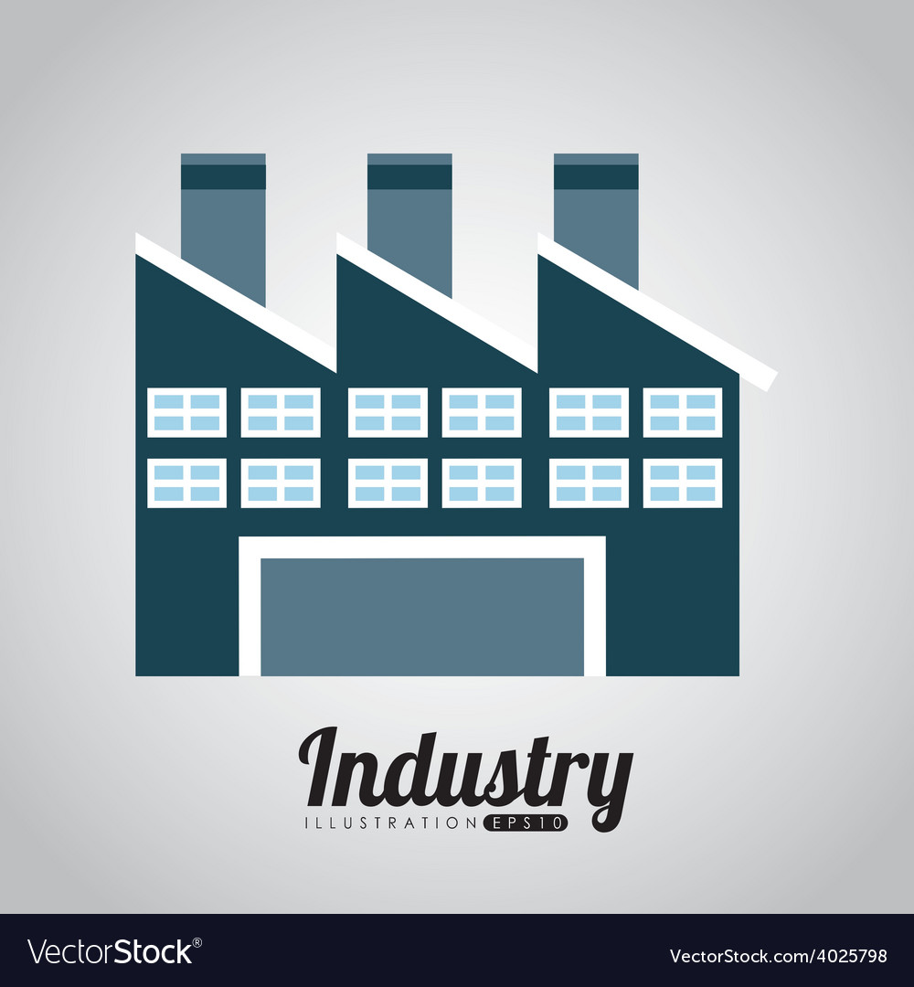 Factory building vector | Price: 1 Credit (USD $1)