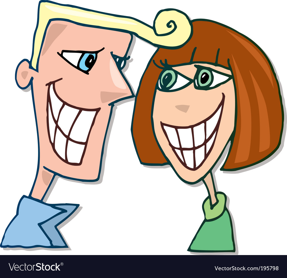 Happy couple in love smiling vector | Price: 3 Credit (USD $3)