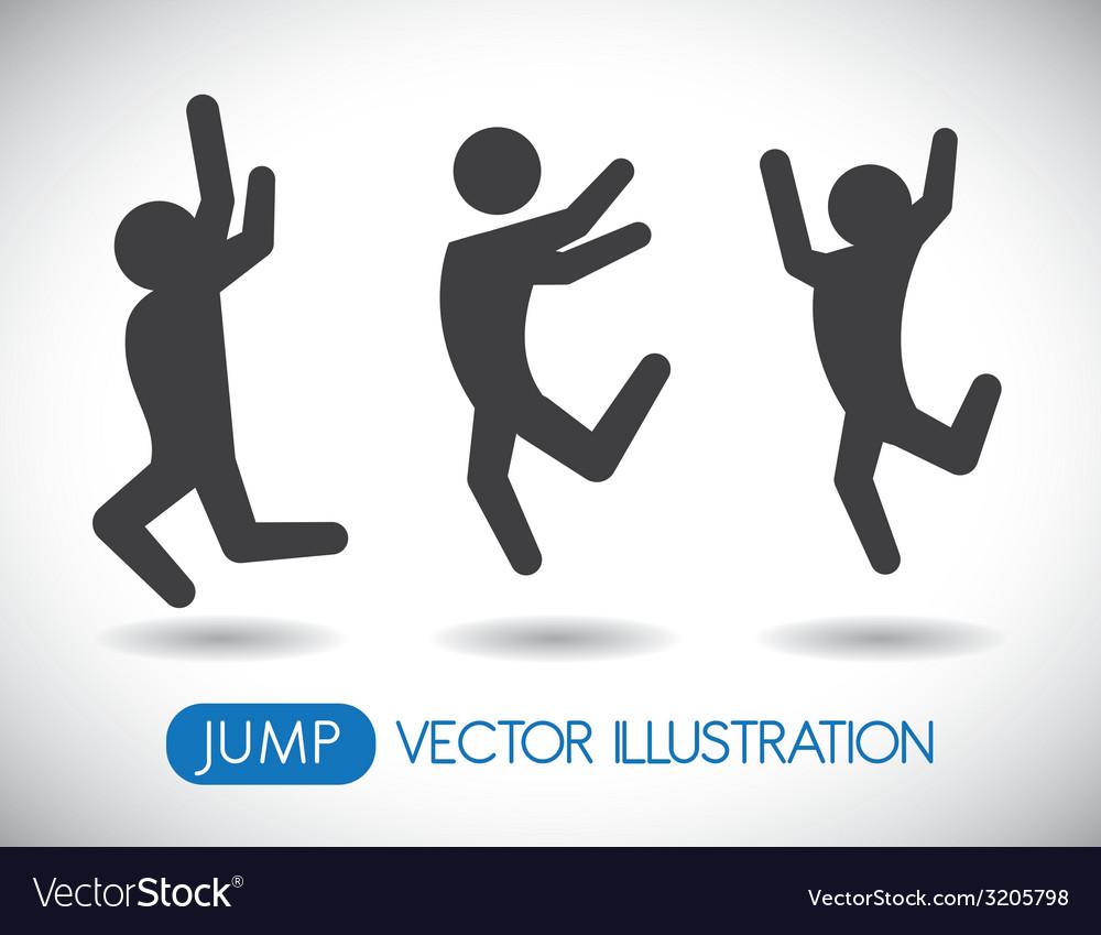 Jump design vector | Price: 1 Credit (USD $1)