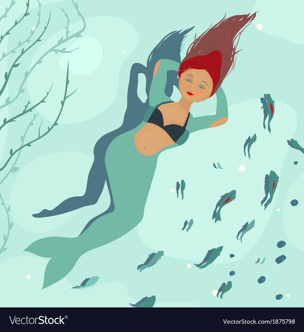 Mermaid dreaming of legs vector | Price: 1 Credit (USD $1)