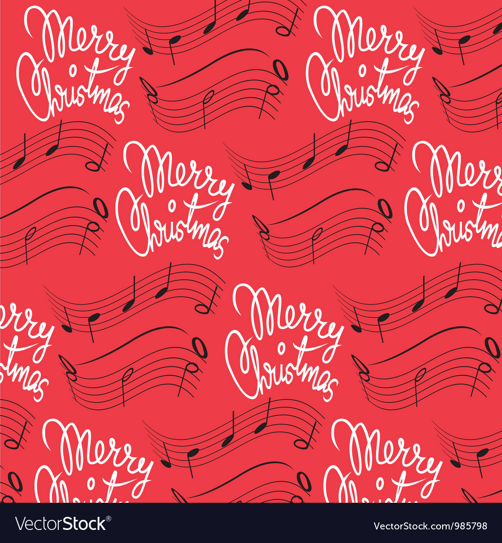 Merry christmas song background vector | Price: 1 Credit (USD $1)