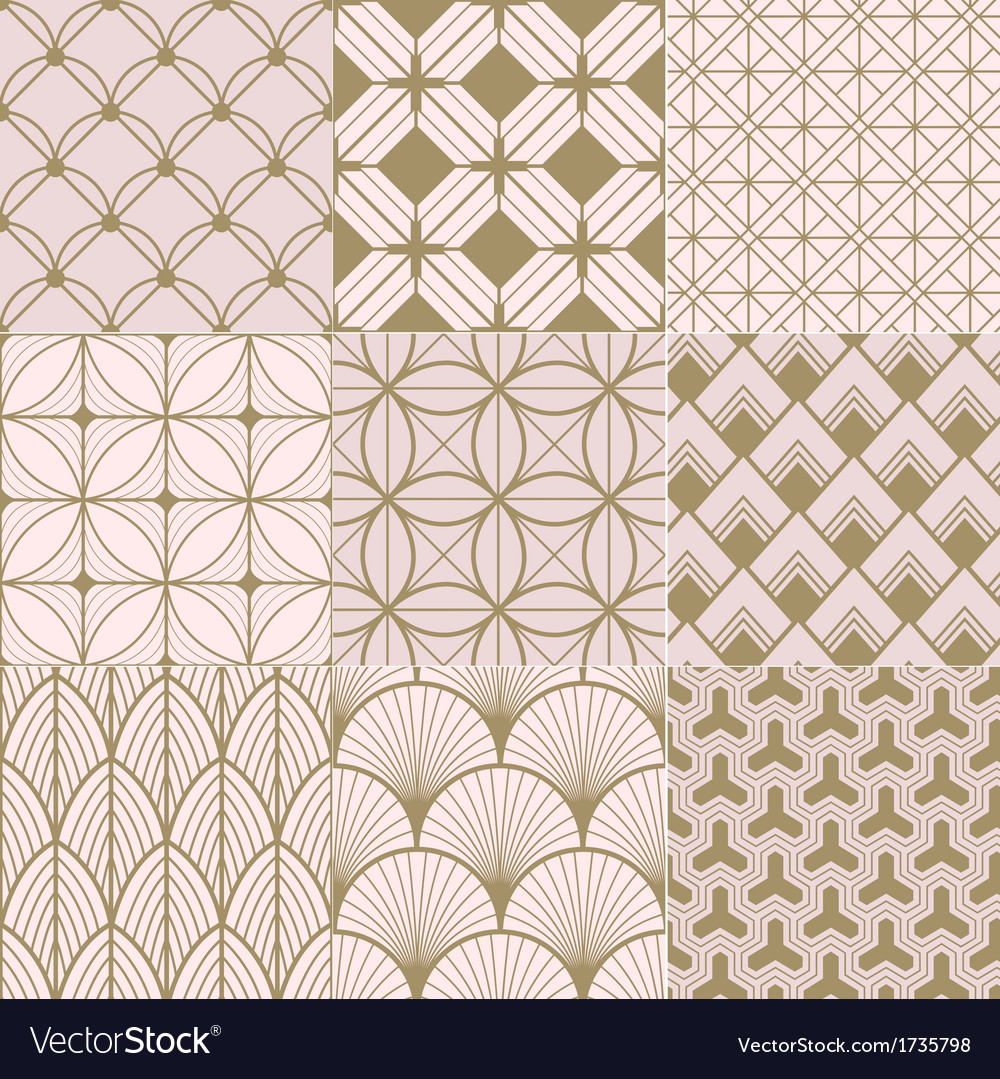 Seamless gold and pink geometric pattern vector | Price: 1 Credit (USD $1)