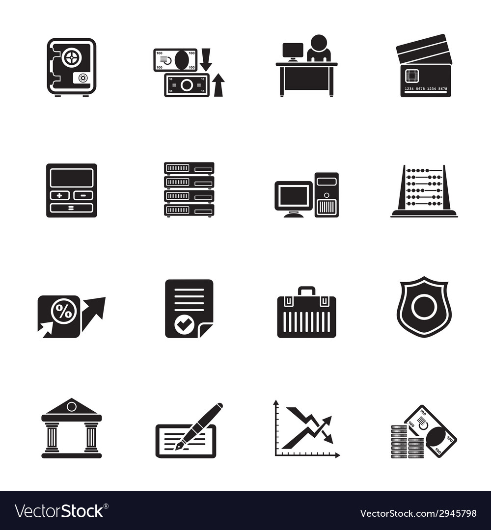 Silhouette business and office icon vector | Price: 1 Credit (USD $1)