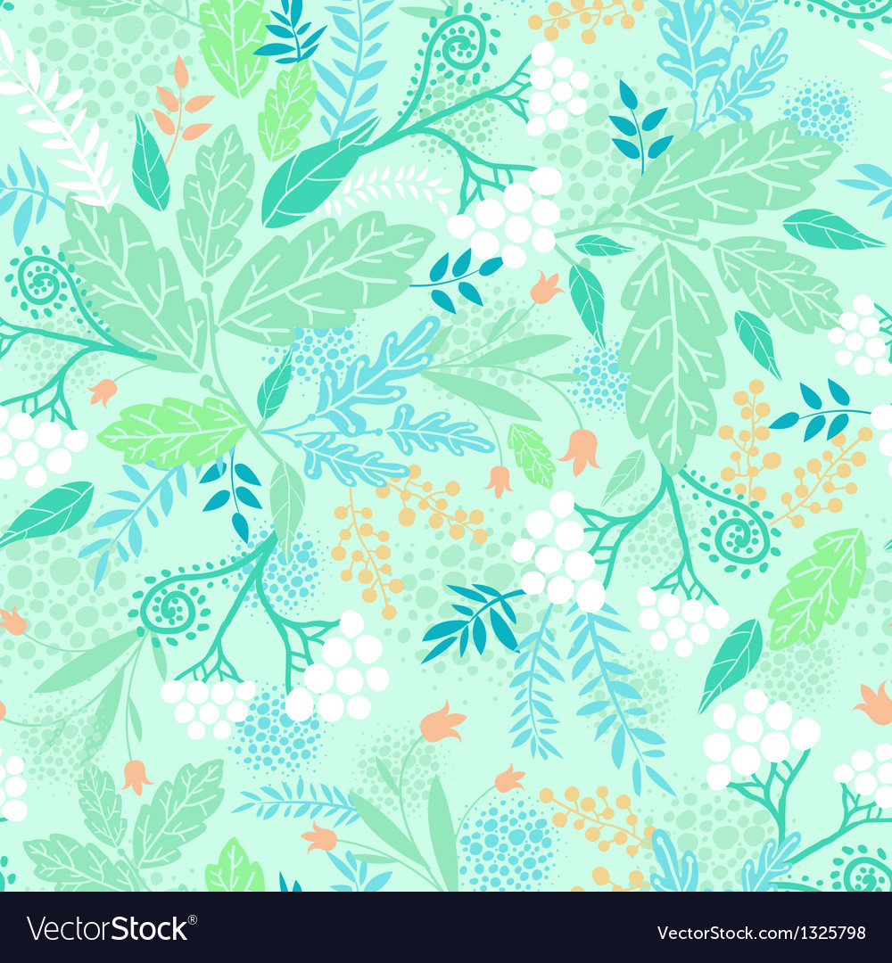 Spring berries seamless pattern background vector | Price: 1 Credit (USD $1)