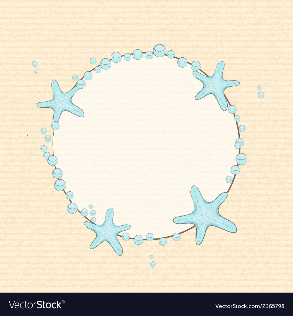 Starfish and bubble background vector | Price: 1 Credit (USD $1)
