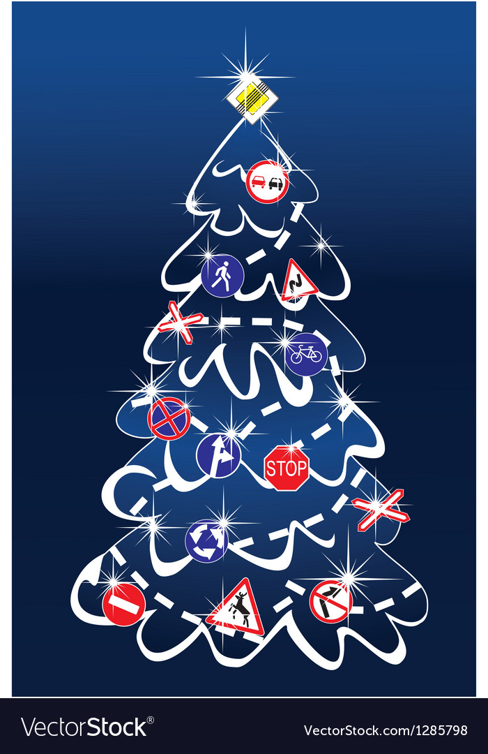 Traffic christmas tree vector | Price: 1 Credit (USD $1)