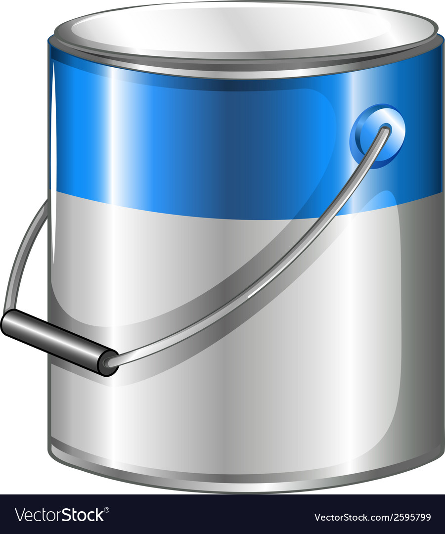 A can of blue paint vector | Price: 1 Credit (USD $1)
