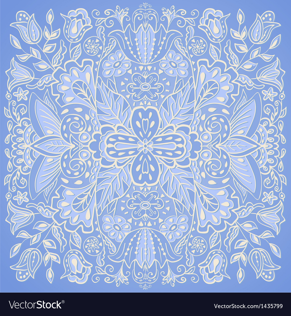 Blue orient traditional ornament vector | Price: 1 Credit (USD $1)