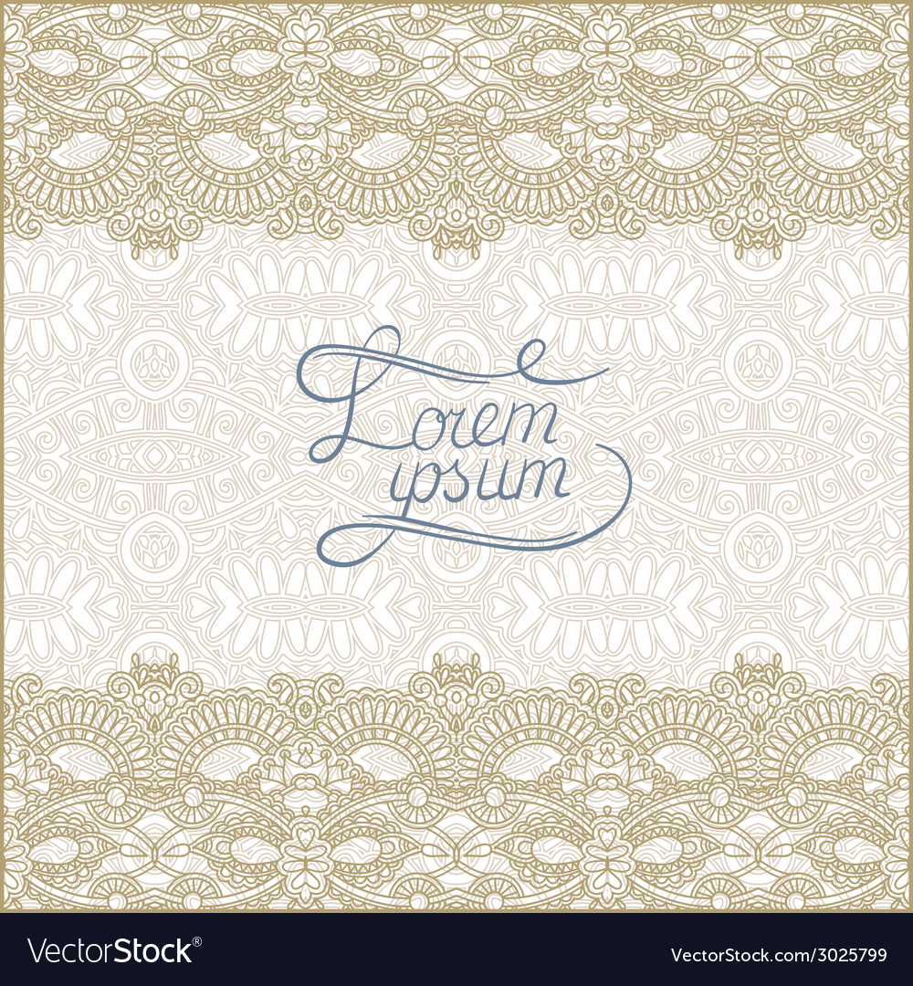 Floral decorative pattern with place for your text vector | Price: 1 Credit (USD $1)