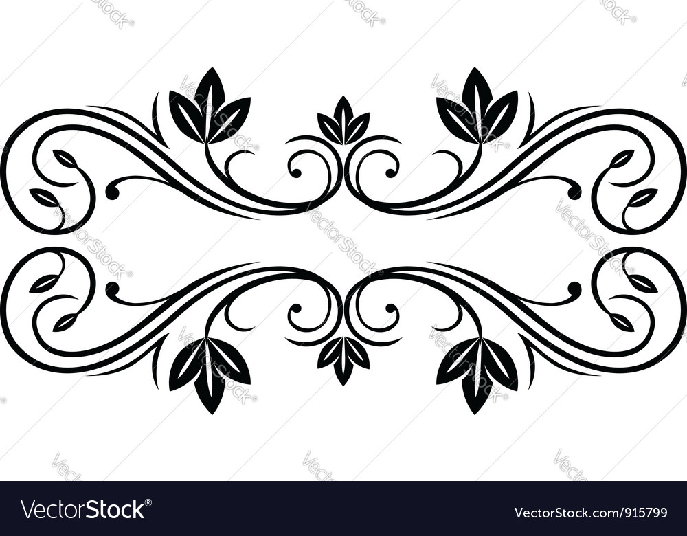 Floral frame in retro style vector | Price: 1 Credit (USD $1)