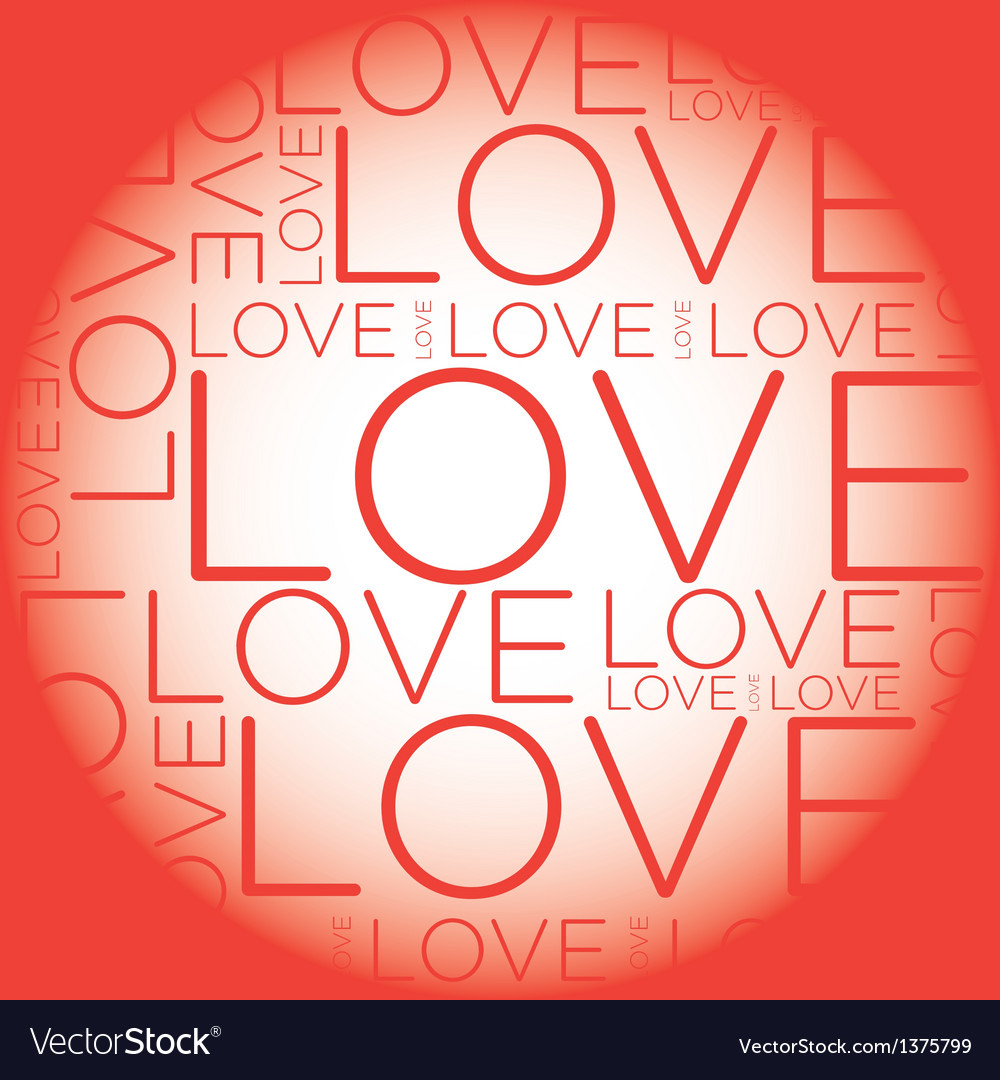 Love word collage vector | Price: 1 Credit (USD $1)