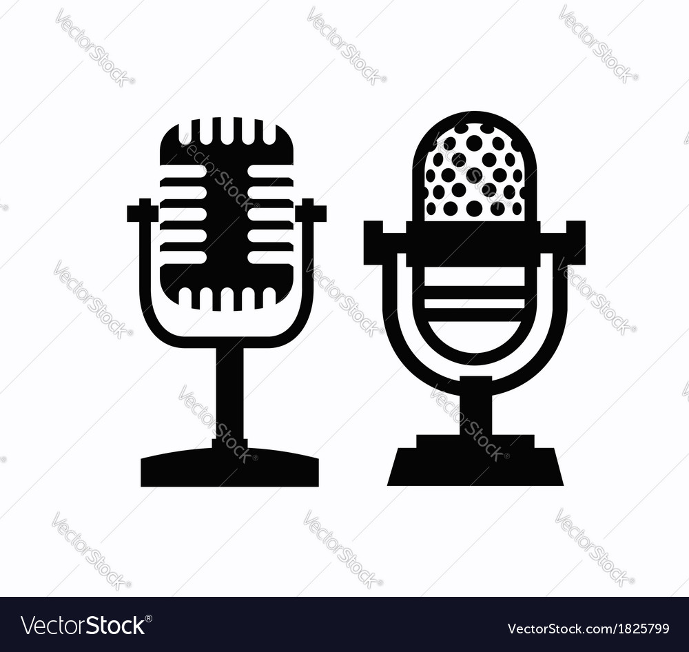 Microphones icon vector | Price: 1 Credit (USD $1)