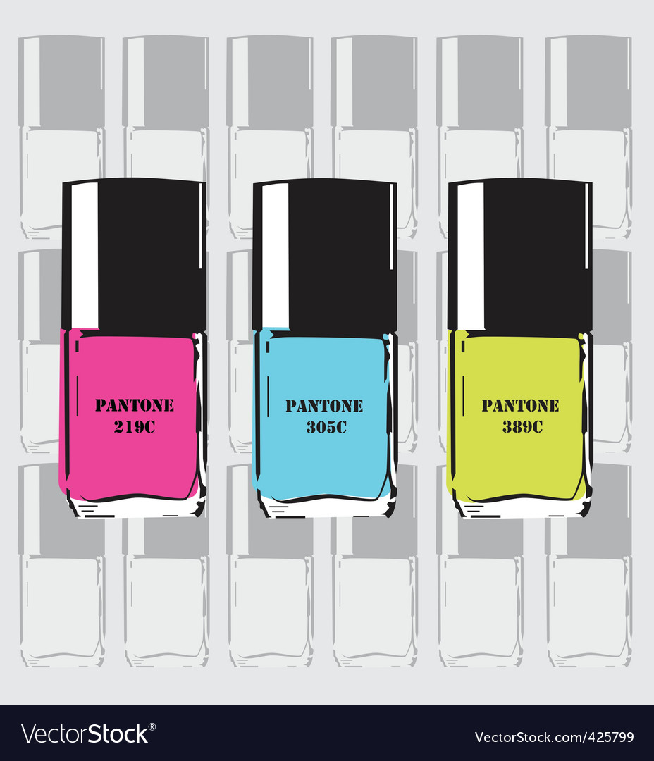 Pantone nail polish vector   Price: 1 Credit (USD $1)