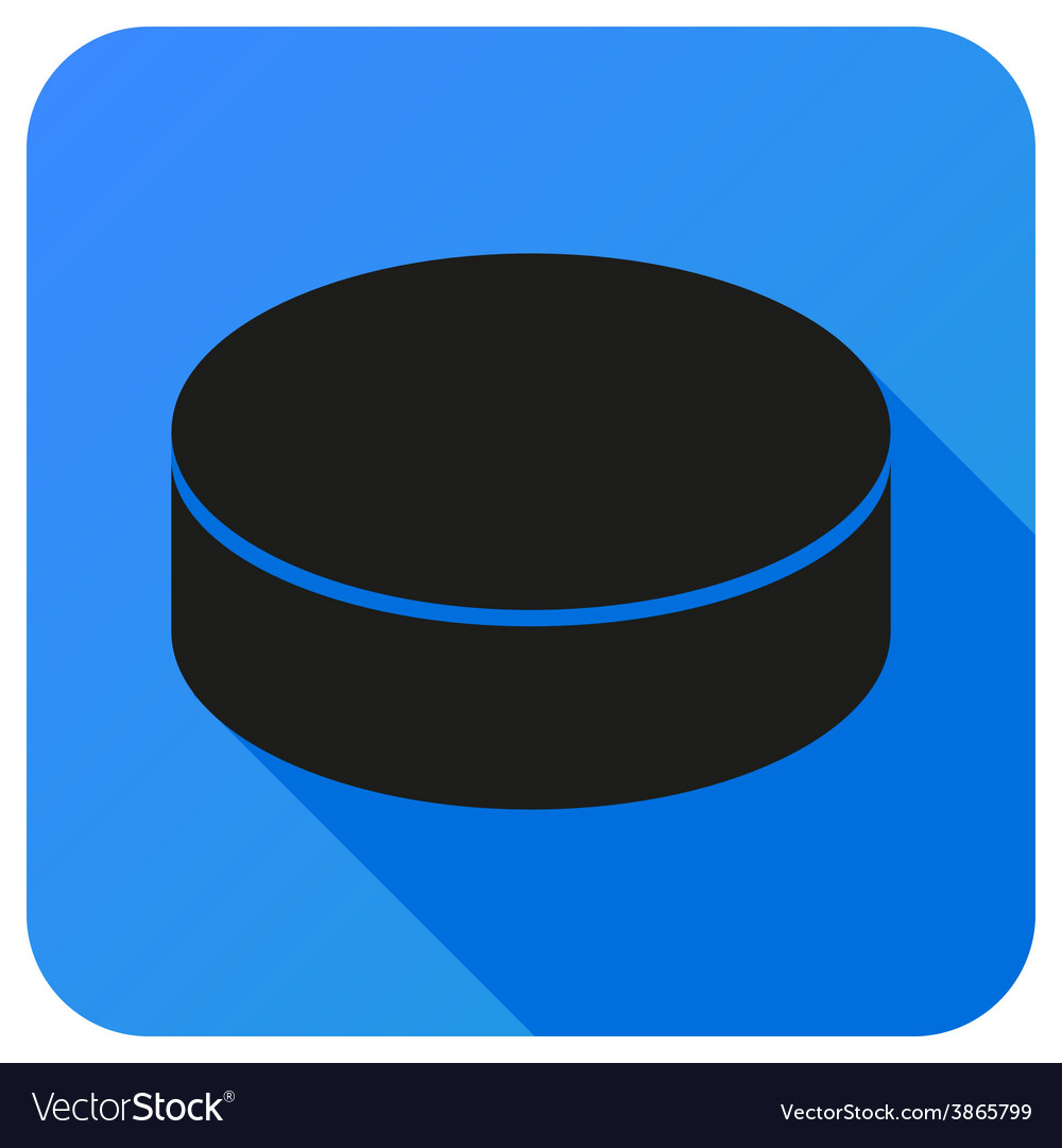 Sport icon with ice hockey in flat style vector | Price: 1 Credit (USD $1)