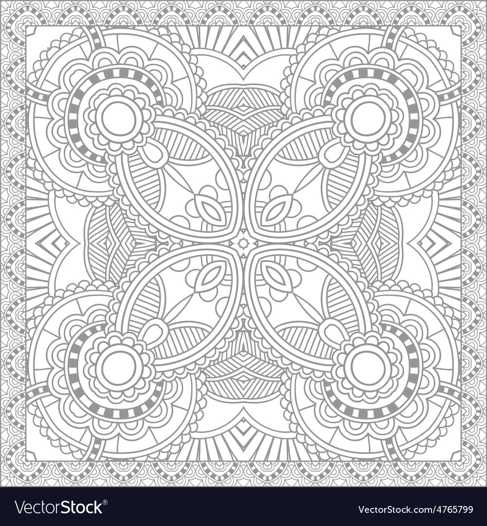 Unique coloring book square page for adults - vector | Price: 1 Credit (USD $1)