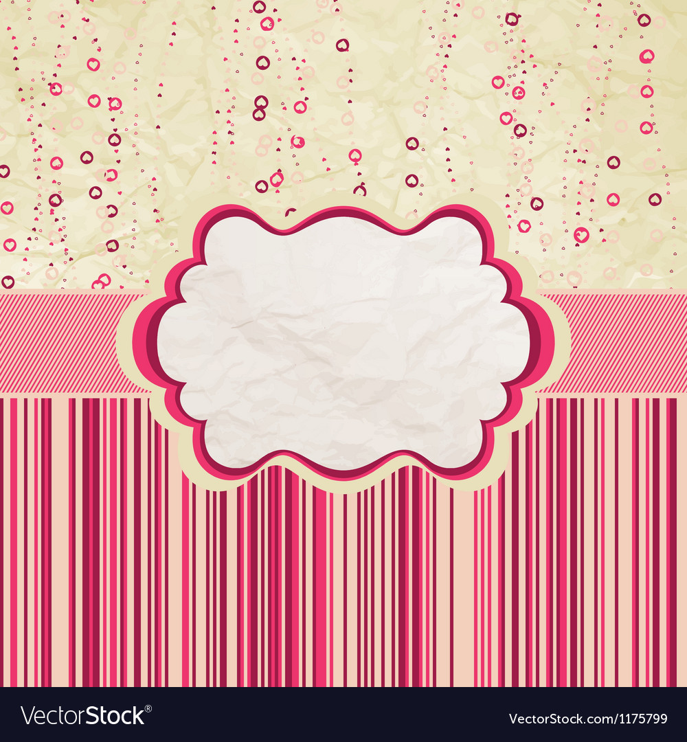 Valentines design retro love eps 8 vector | Price: 1 Credit (USD $1)