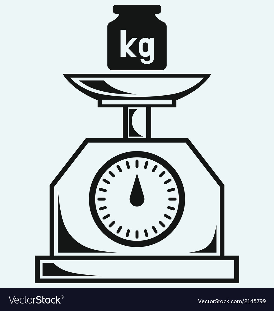 Weight scale and weight kilogram vector | Price: 1 Credit (USD $1)