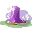 Pair of shiny rain boots vector