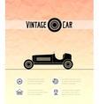 Retro sport racing car vintage outline style vector