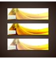 Set of banners with blurred background of yellow vector