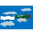 Airplane banner biplane vector