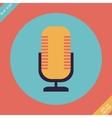 Retro microphone icon - vector