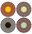 Set of decorative circles vector