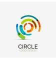 Hi-tech circle company logo business concept vector