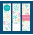 Colorful doodle snowflakes vertical banners set vector
