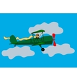 Aircraft flying in the clouds vector
