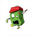 Zombie in a cap isolated on white vector