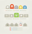 Abstract web page menu template vector