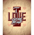 Vintage sign of love on aged crumpled paper vector