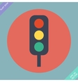 Traffic lights icon - vector