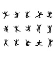 Abstract jumping figures vector