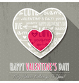 Grey background with two valentine hearts vector