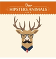 Background and greeting card with hipster deer vector