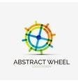 Abstract wheel company logo business concept vector