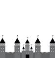 Black castle on white background vector