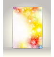 Business brochure template flower colorful design vector