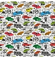 Cars - seamless background vector
