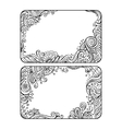 Set of two floral decorative frames vector