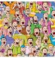 Crowd cheering seamless vector