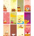 Card set sweet love vector