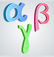 Alpha beta gamma greek alphabet vector