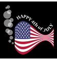 Usa flag as a fish with bubbles vector