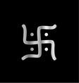 Swastika symbol of jainism religion vector