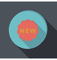 Paper flat icon label new vector